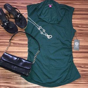 Vince Camuto Cowl neck Sacramento Green blouse